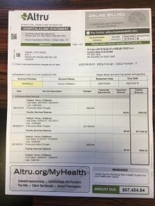 Verna Kittleson medical bill